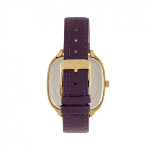 Simplify The 3500 Leather-Band Watch - Gold/Plum - SIM3507