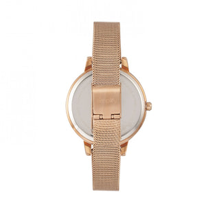 Simplify The 5800 Mesh Bracelet Watch - Rose Gold/White - SIM5805