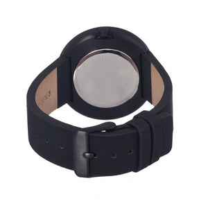 Simplify The 1200 Leather-Band Unisex Watch - Black - SIM1207