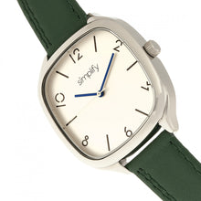 Load image into Gallery viewer, Simplify The 3500 Leather-Band Watch - Silver/Green - SIM3504