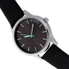 Load image into Gallery viewer, Simplify The 2400 Leather-Band Unisex Watch - Silver/Black - SIM2402