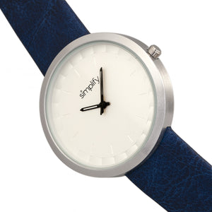 Simplify The 6000 Strap Watch - Silver/Blue - SIM6002