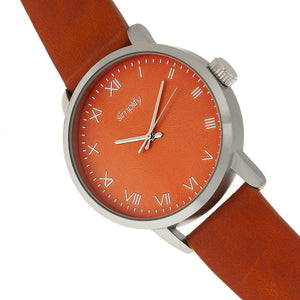 Simplify The 4200 Leather-Band Watch - Orange - SIM4203