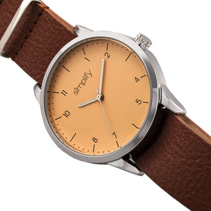 Simplify The 5600 Leather-Band Watch - Nude/Light Brown - SIM5604