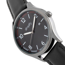 Load image into Gallery viewer, Simplify The 6900 Leather-Band Watch w/ Date - Black - SIM6904