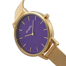 Load image into Gallery viewer, Simplify The 5800 Mesh Bracelet Watch - Gold/Purple - SIM5804