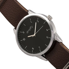 Load image into Gallery viewer, Simplify The 5600 Leather-Band Watch - Black/Brown - SIM5603