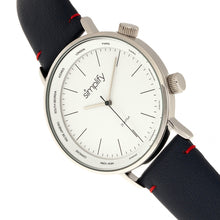Load image into Gallery viewer, Simplify The 3300 Leather-Band Watch - Navy/White - SIM3302