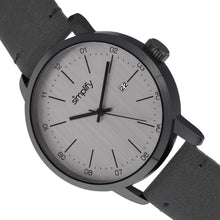 Load image into Gallery viewer, Simplify The 2500 Leather-Band Men's Watch w/ Date - Charcoal - SIM2505