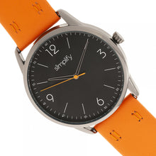 Load image into Gallery viewer, Simplify The 6300 Leather-Band Watch - Orange/Black - SIM6305