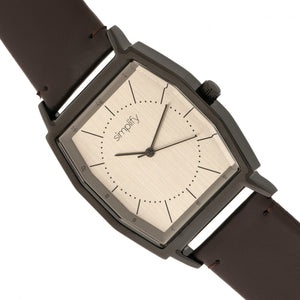 Simplify The 5400 Leather-Band Watch - Bronze/Dark Brown  - SIM5405