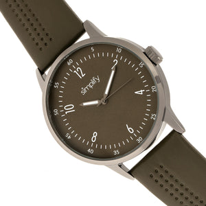 Simplify The 5700 Leather-Band Watch - Olive - SIM5707
