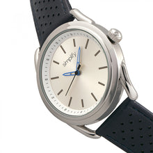 Load image into Gallery viewer, Simplify The 5900 Leather-Band Watch - Silver/Blue - SIM5901