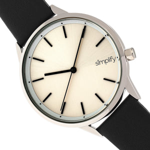 Simplify The 6700 Series Strap Watch -  Black/Silver - SIM6701