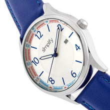 Load image into Gallery viewer, Simplify The 6900 Leather-Band Watch w/ Date - Blue - SIM6903