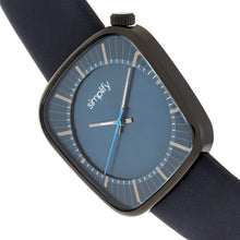Load image into Gallery viewer, Simplify The 6800 Leather-Band Watch - Black/Navy - SIM6806