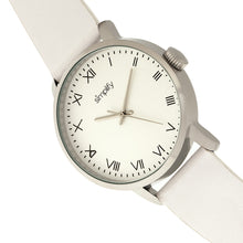 Load image into Gallery viewer, Simplify The 4200 Leather-Band Watch - White - SIM4201
