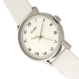 Simplify The 4200 Leather-Band Watch - White - SIM4201