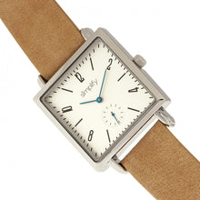 Load image into Gallery viewer, Simplify The 5000 Leather-Band Watch - Khaki/White - SIM5005