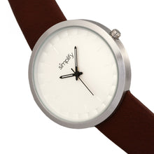Load image into Gallery viewer, Simplify The 6000 Strap Watch - Silver/Brown - SIM6001