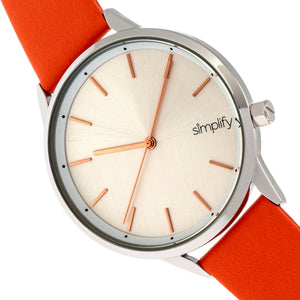Simplify The 6700 Series Strap Watch - Orange/Silver - SIM6703