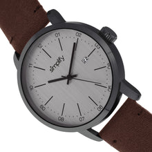 Load image into Gallery viewer, Simplify The 2500 Leather-Band Men's Watch w/ Date - Plum - SIM2503