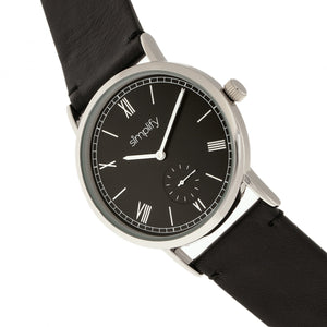Simplify The 5100 Leather-Band Watch - Black - SIM5102