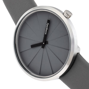Simplify The 4000 Leather-Band Watch - Grey - SIM4004