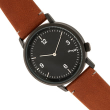Load image into Gallery viewer, Simplify The 5500 Leather-Band Watch - Black/Brown - SIM5505