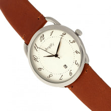 Load image into Gallery viewer, Simplify The 4900 Leather-Band Watch w/Date - Silver/Camel - SIM4901