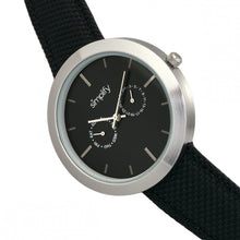 Load image into Gallery viewer, Simplify The 6100 Canvas-Overlaid Strap Watch w/ Day/Date - Black - SIM6101
