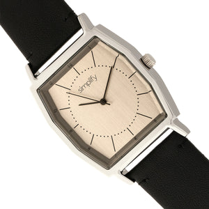 Simplify The 5400 Leather-Band Watch - Bronze/Black  - SIM5403