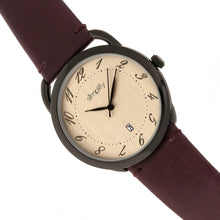 Load image into Gallery viewer, Simplify The 4900 Leather-Band Watch w/Date - Black/Plum - SIM4904
