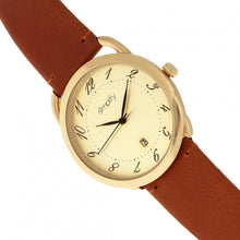 Load image into Gallery viewer, Simplify The 4900 Leather-Band Watch w/Date - Gold/Camel - SIM4903