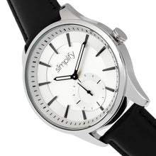 Load image into Gallery viewer, Simplify The 6600 Series Leather-Band Watch - Black/Silver - SIM6601