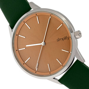 Simplify The 6700 Series Strap Watch - Forest Green/Silver - SIM6705