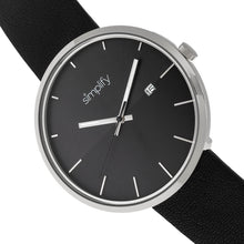 Load image into Gallery viewer, Simplify The 6400 Leather-Band Watch w/Date - Silver/Black - SIM6403