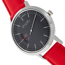 Load image into Gallery viewer, Simplify The 6500 Leather-Band Watch - Red/Black - SIM6503