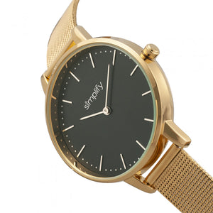 Simplify The 5800 Mesh Bracelet Watch - Gold/Black - SIM5803