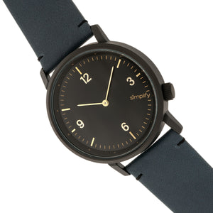 Simplify The 5500 Leather-Band Watch - Black/Slate - SIM5504