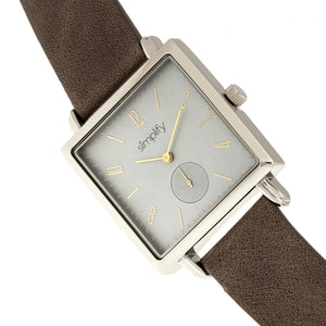 Simplify The 5000 Leather-Band Watch - Charcoal/Grey - SIM5006