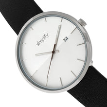 Load image into Gallery viewer, Simplify The 6400 Leather-Band Watch w/Date - Silver - SIM6401