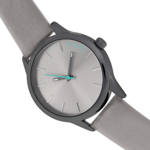 Simplify The 2400 Leather-Band Unisex Watch - Black/Grey - SIM2403