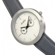 Load image into Gallery viewer, Simplify The 6100 Canvas-Overlaid Strap Watch w/ Day/Date - White/Grey - SIM6103