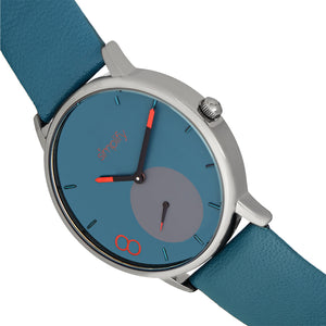 Simplify The 7200 Leather-Band Watch - Teal - SIM7205