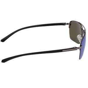 Simplify Lennox Polarized Sunglasses - Gunmetal/Blue - SSU119-BL