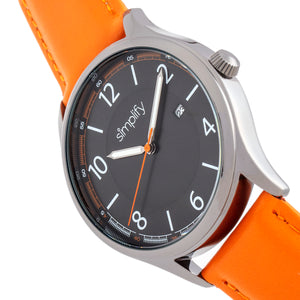 Simplify The 6900 Leather-Band Watch w/ Date - Orange - SIM6906