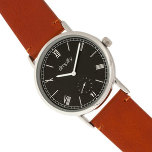Simplify The 5100 Leather-Band Watch - Camel/Black - SIM5106