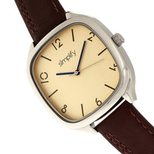 Load image into Gallery viewer, Simplify The 3500 Leather-Band Watch - Silver/Brown - SIM3506