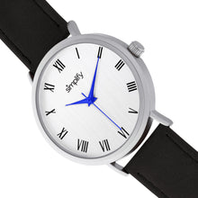 Load image into Gallery viewer, Simplify The 2900 Leather-Band Watch - Silver/Black - SIM2901